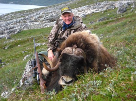 Craig Boddington with his SCI gold medal Musk ox in Greenland